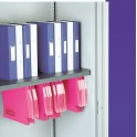 Plain shelf with suspended filing
