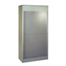Vertical Tambour (Steel Front) - 2210 mm High